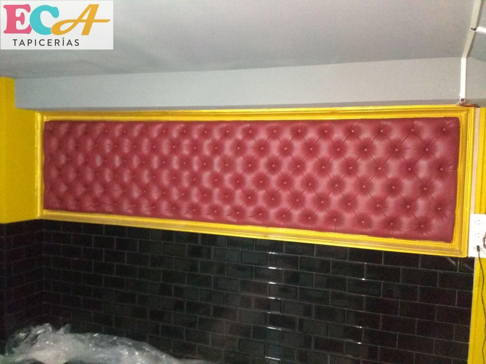 ECA Tapicerías capitone pub cafeteria tapicero a medida
