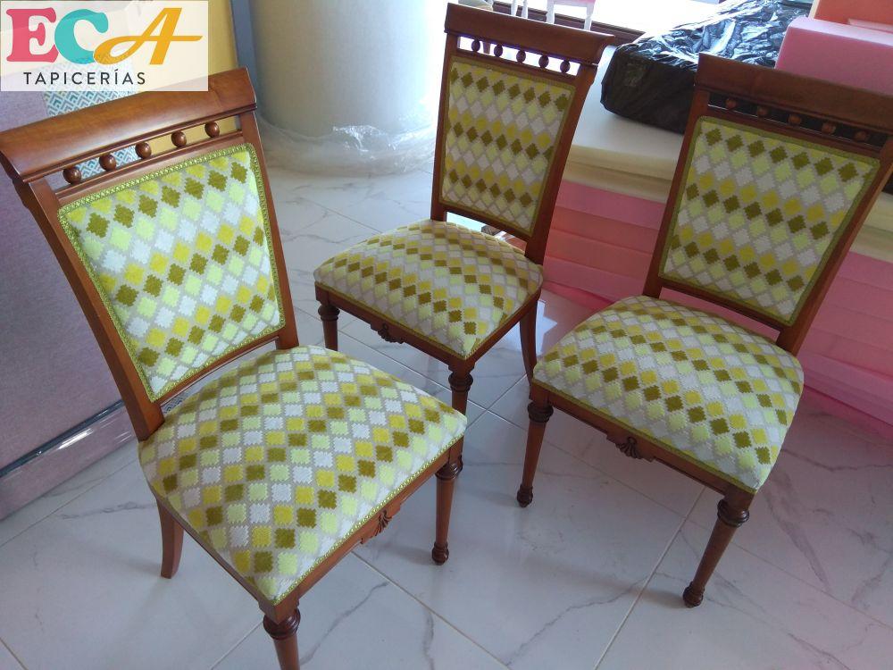 ECA Tapicerías sillas almeria tapicero rustika
